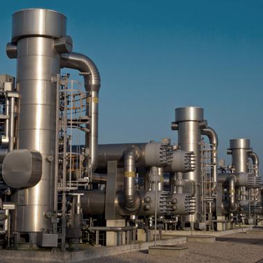 Usine d'hydrocarbure